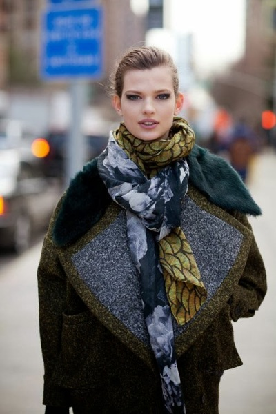 NYFW LAYERED SCARVES
